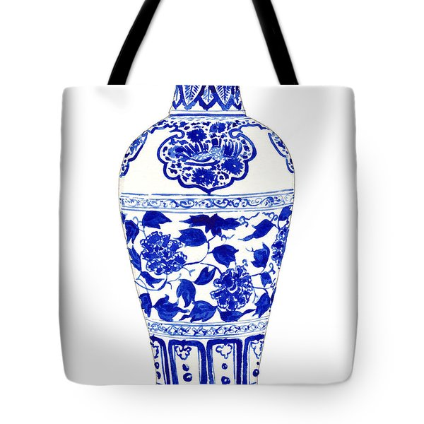 Blue And White Ginger Jar Chinoiserie Jar 1 Tote Bag by Laura Row