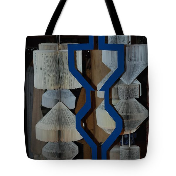 Blue And White Tote Bag by Rob Hans