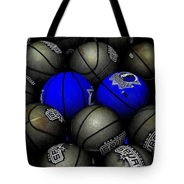 Blue Balls Tote Bag by Ed Smith