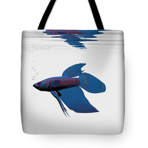 Blue Betta Tote Bag by Corey Ford