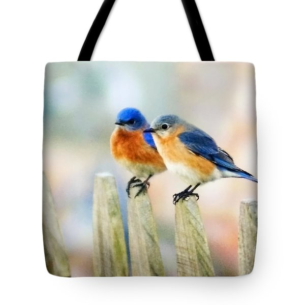 Blue Birds Tote Bag by Scott Pellegrin