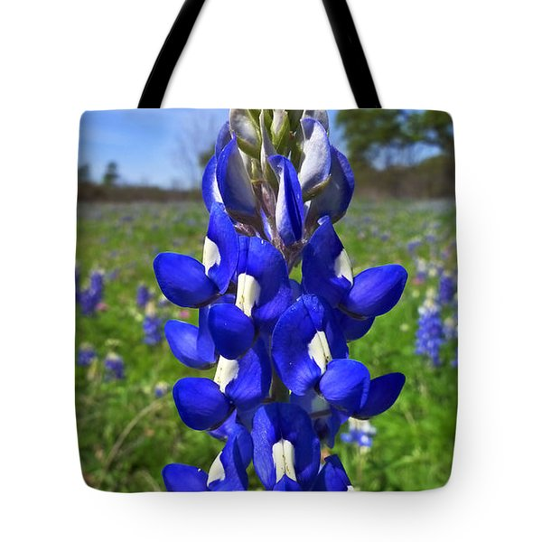 Blue Bonnet Tote Bag by Skip Hunt