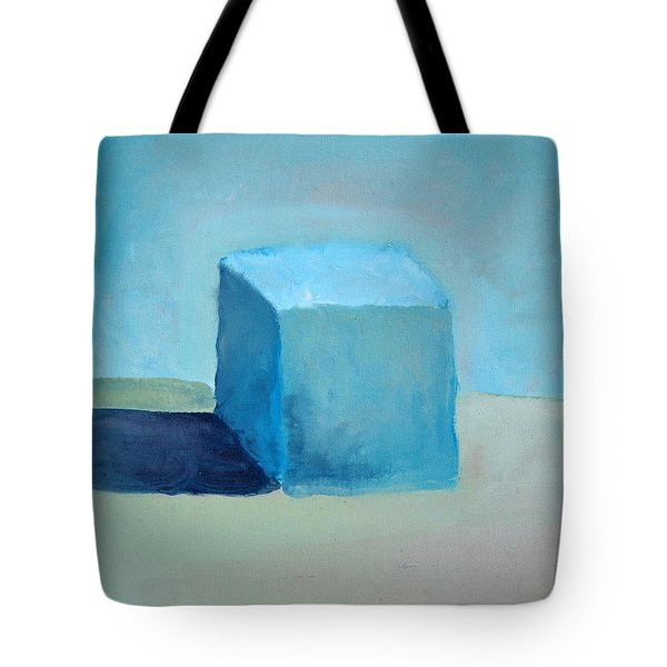 Blue Cube Still Life Tote Bag by Michelle Calkins