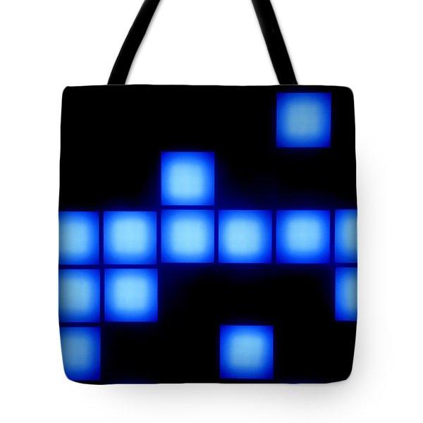 Blue Cubes Tote Bag by Brandon Tabiolo - Printscapes