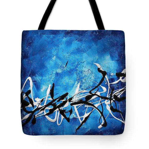 Blue Divinity II By Madart Tote Bag by Megan Duncanson
