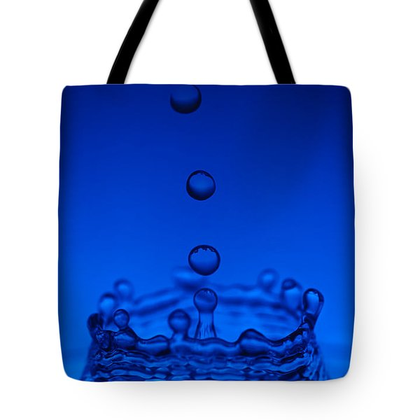 Blue Drop Tote Bag by Steve Gadomski