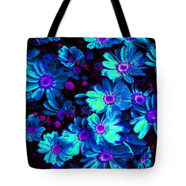 Blue Flower Arrangement Tote Bag by Phill Petrovic