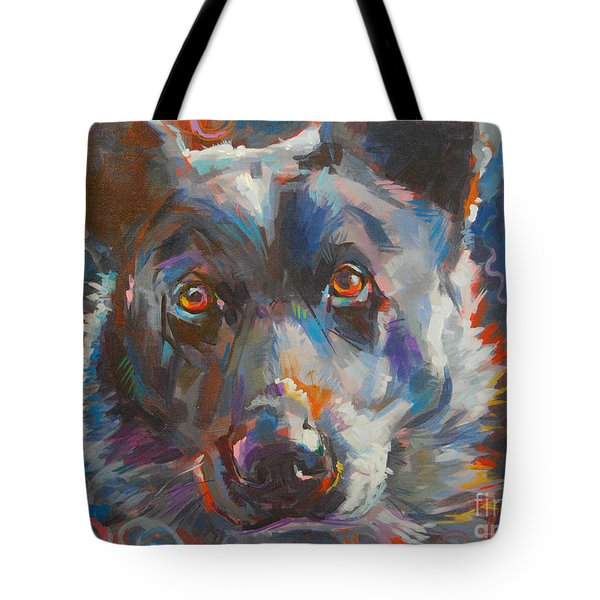 Blue Heeler Tote Bag by Kimberly Santini