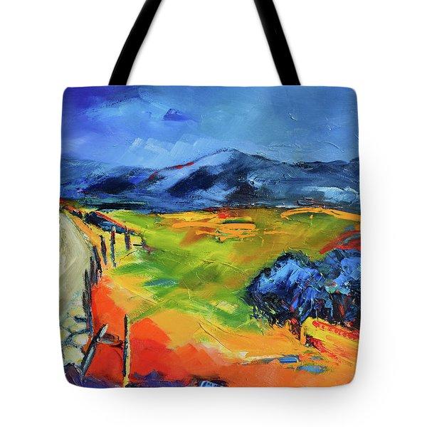 Blue Hills Tote Bag by Elise Palmigiani