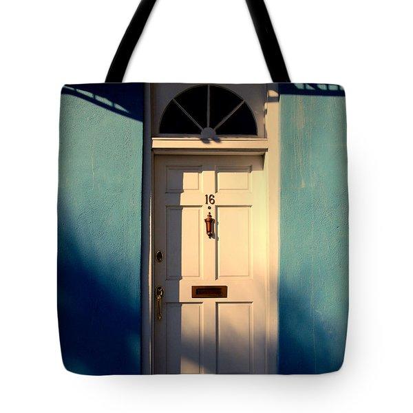 Blue House Door Tote Bag by Susanne Van Hulst