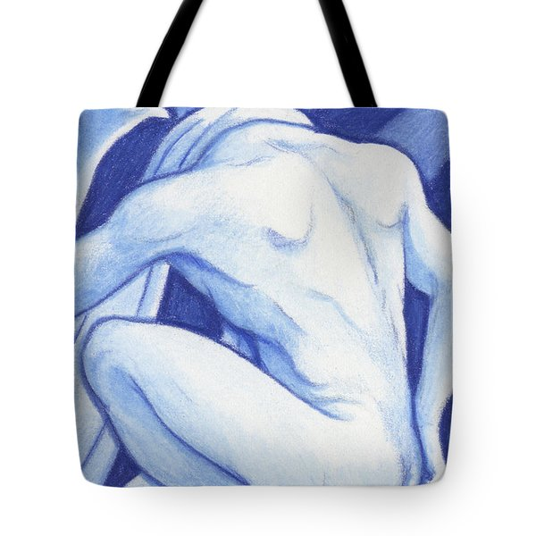 Blue Man Study Tote Bag by Amy S Turner