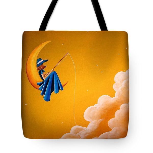 Blue Moon Tote Bag by Cindy Thornton