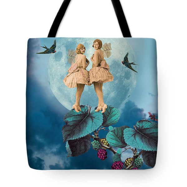 Blue Moon Tote Bag by Olga Snell