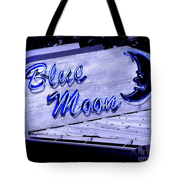 Blue Moon Tote Bag by Perry Webster