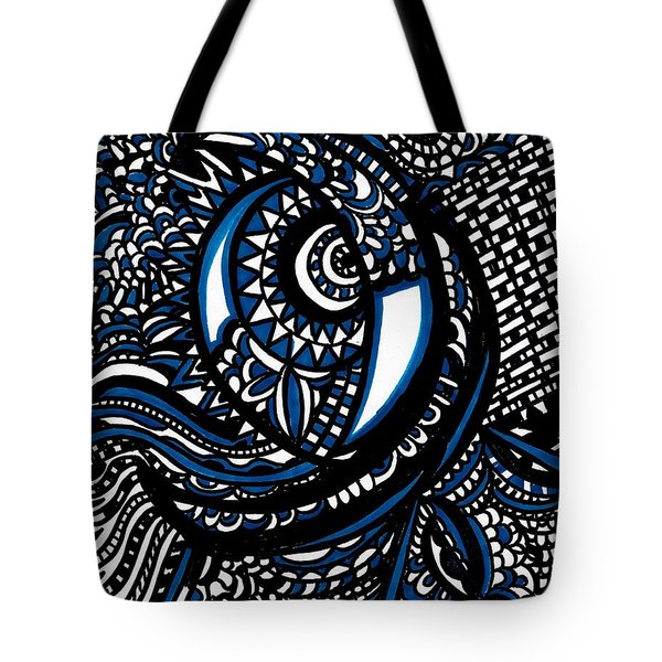 Blue Moon Tote Bag by WBK