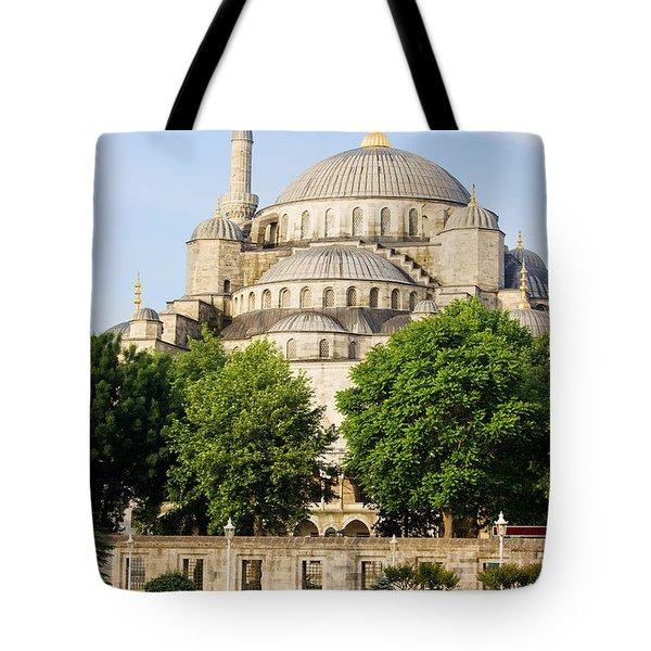Blue Mosque Tote Bag by Artur Bogacki