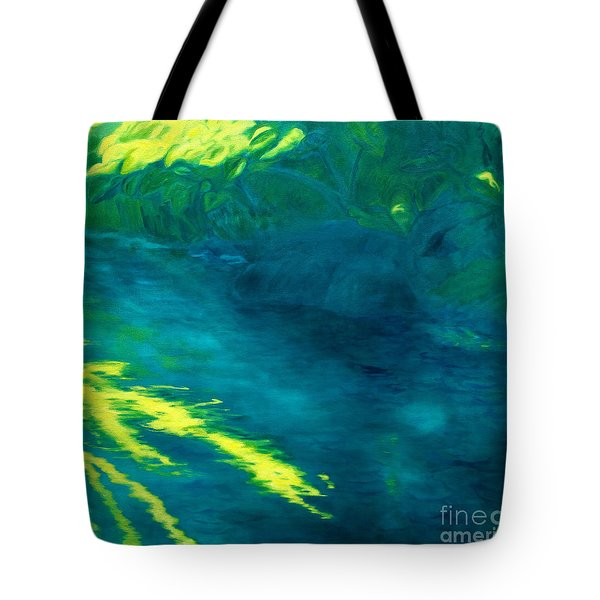 Blue Pool Off Ulaino Road Tote Bag by Fay Biegun - Printscapes