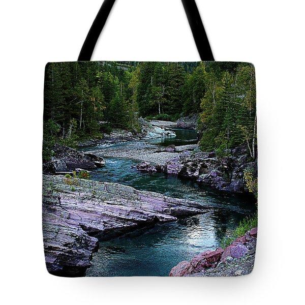 Blue River Tote Bag by Joseph Noonan