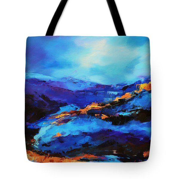 Blue Shades Tote Bag by Elise Palmigiani