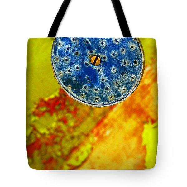 Blue Shower Head Tote Bag by Skip Hunt