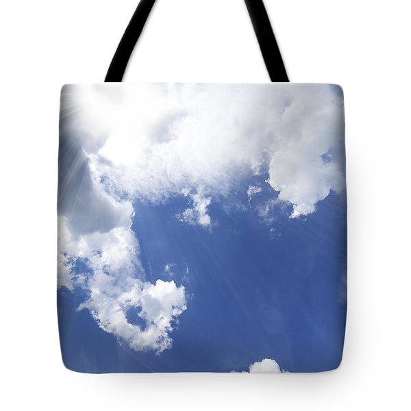 blue sky and cloud Tote Bag by Setsiri Silapasuwanchai