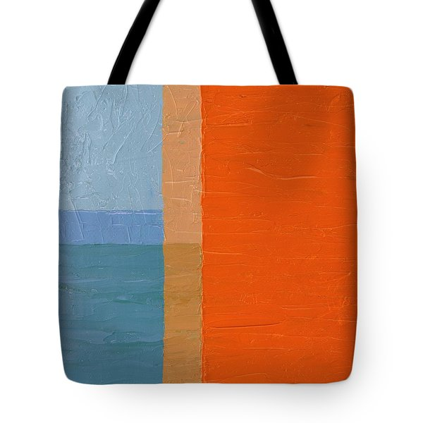 Blue Sky Around The Corner Tote Bag by Michelle Calkins