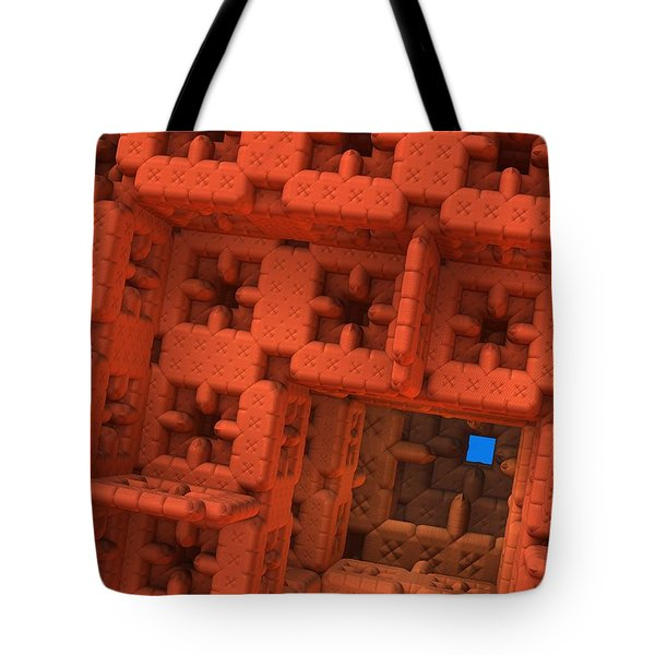 Blue Square Tote Bag by Lyle Hatch