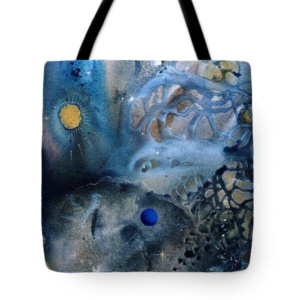 Blue Star Rising Tote Bag by Lee Pantas