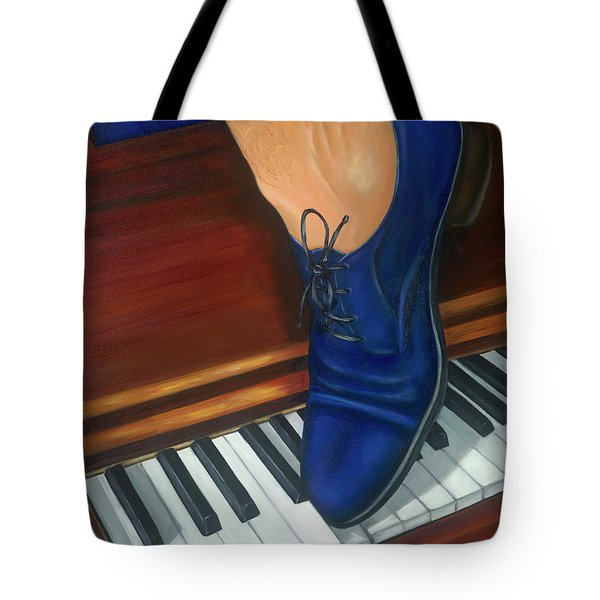 Blue Suede Shoes Tote Bag by Marlyn Boyd