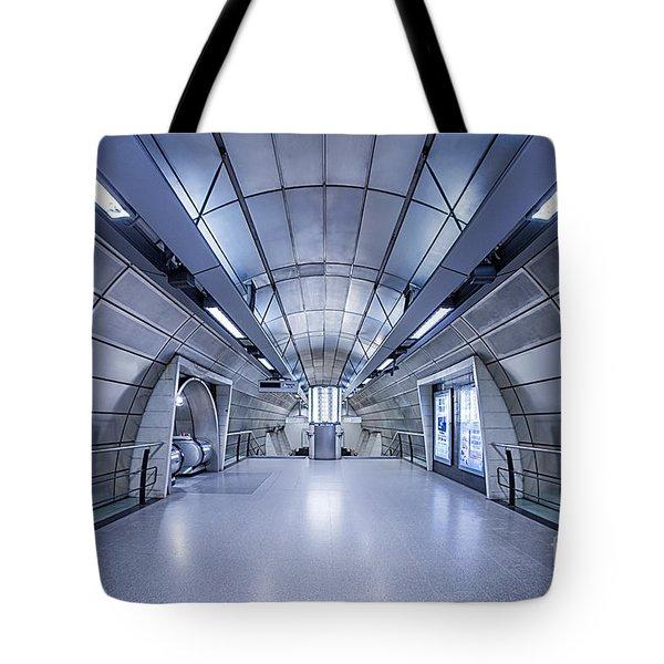 Blue Tomorrow Tote Bag by Evelina Kremsdorf