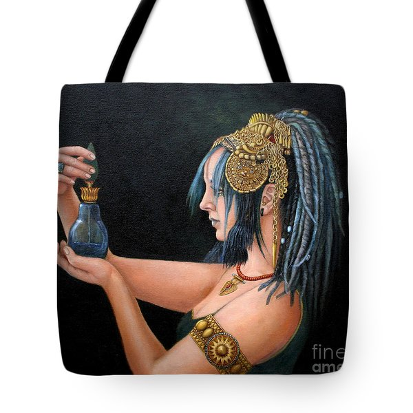 Blue Tribe Tote Bag by Enzie Shahmiri