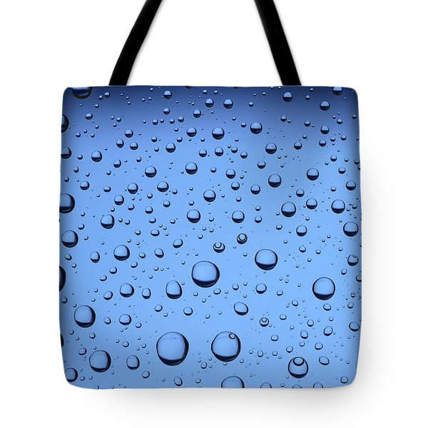 Blue Water Bubbles Tote Bag by Frank Tschakert