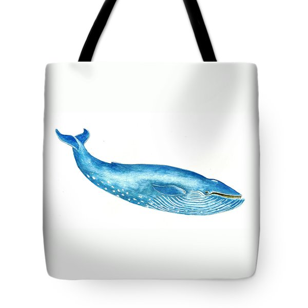 Blue Whale Tote Bag by Michael Vigliotti