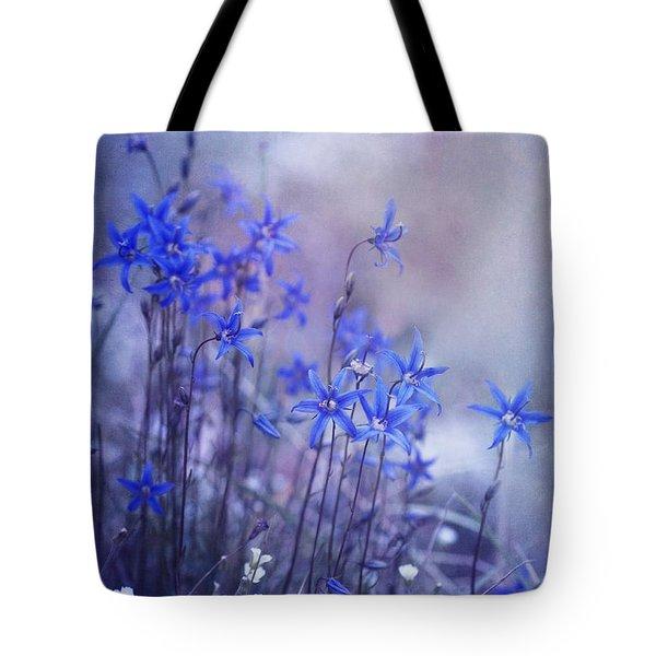 bluebell heaven Tote Bag by Priska Wettstein
