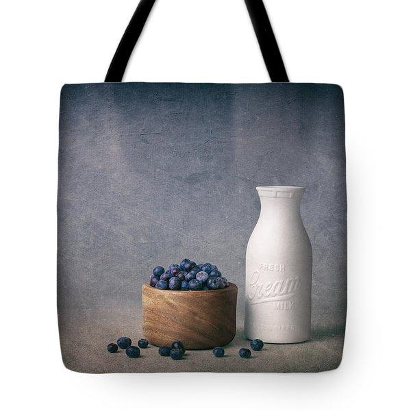 Blueberries And Cream Tote Bag by Tom Mc Nemar