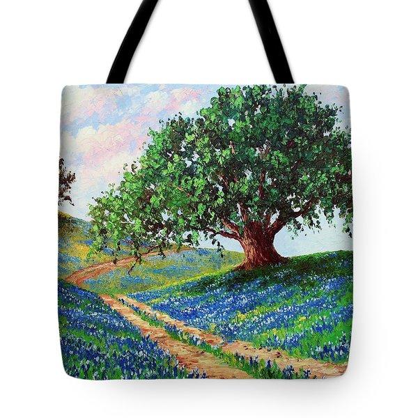 Bluebonnet Road Tote Bag by David G Paul
