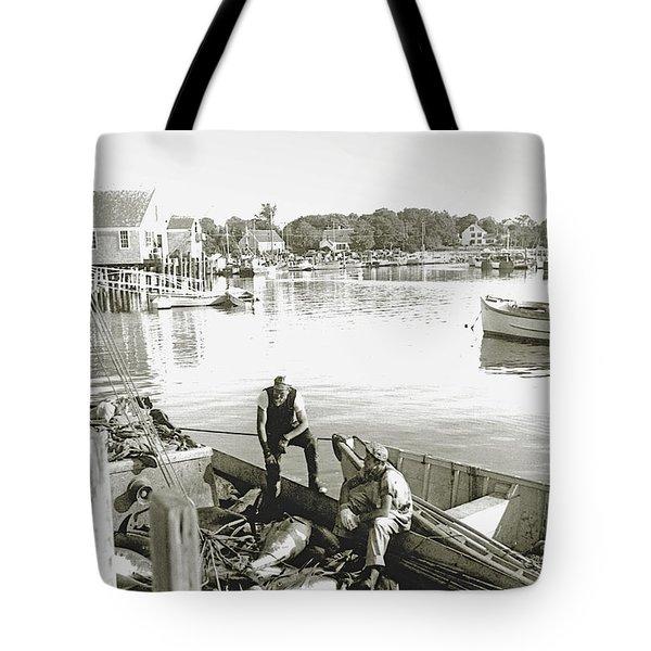 Bluefin Tuna at Barnstable Harbor Tote Bag by Charles Harden
