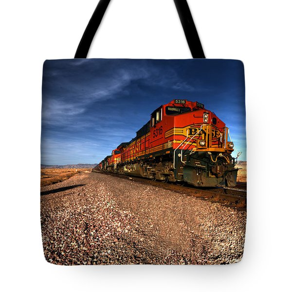 Bnsf Freight  Tote Bag by Rob Hawkins