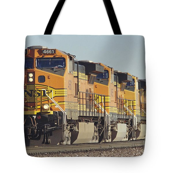 Bnsf Freight Train Tote Bag by Richard R Hansen and Photo Researchers