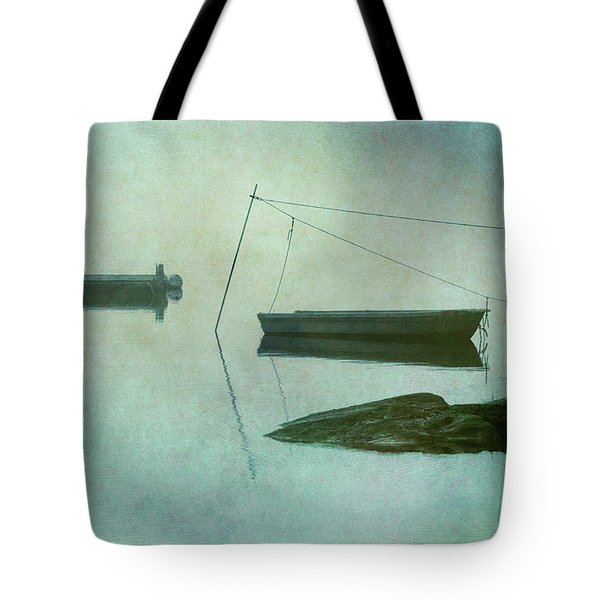 Boat And Dock Taunton River No. 2 Tote Bag by Dave Gordon