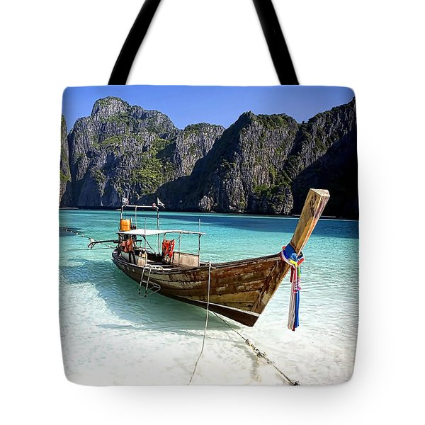 Boat Beach Collection Tote Bag by Marvin Blaine
