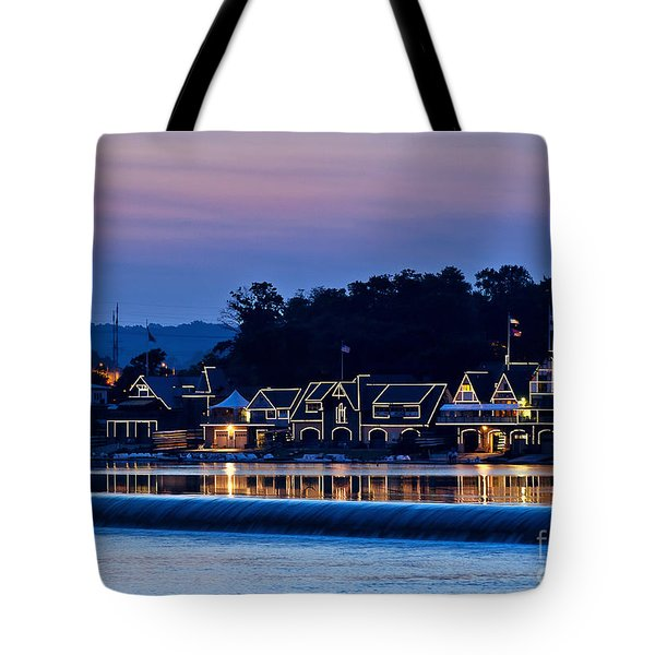 Boat House Row Tote Bag by John Greim