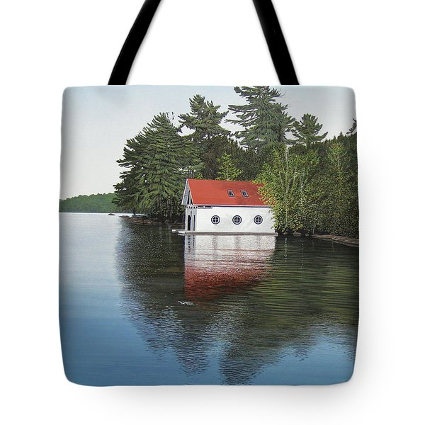 Boathouse Tote Bag by Kenneth M  Kirsch