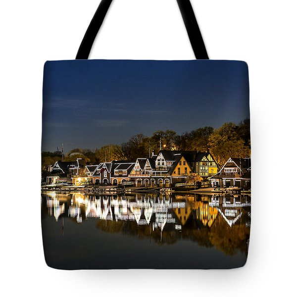 Boathouse Row Tote Bag by John Greim