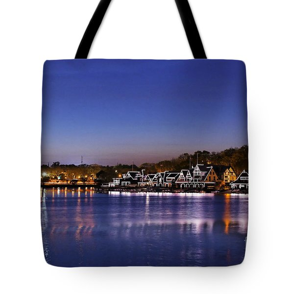 Boathouse Row Philly Tote Bag by John Greim