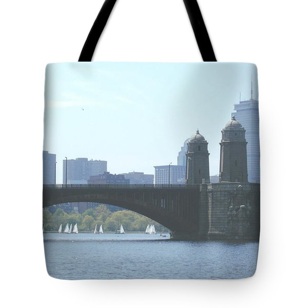 Boating on the Charles Tote Bag by Laura Lee Zanghetti