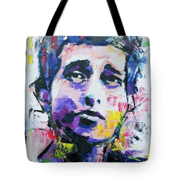 Bob Dylan Portrait Tote Bag by Richard Day