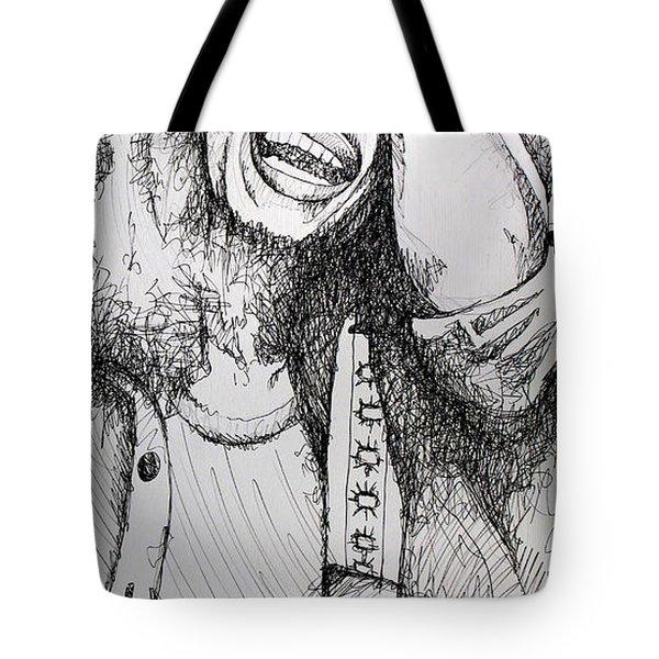 Bob Marley In Ink Tote Bag by Joshua Morton
