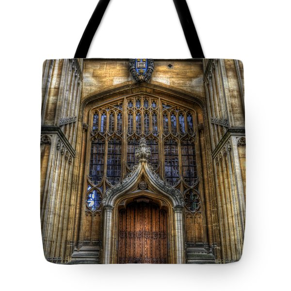 Bodleian Library Door - Oxford Tote Bag by Yhun Suarez