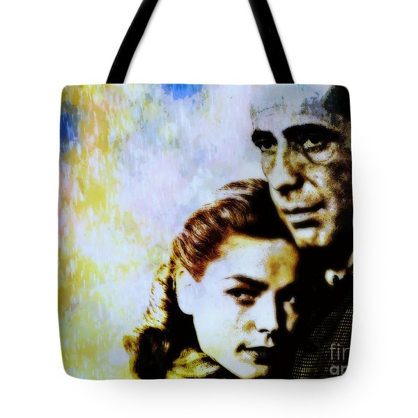 Bogie and Bacall Tote Bag by WBK